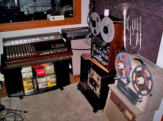 Studio sie with Tascam 388 in   Phantom Productions vintage reel to reel collection