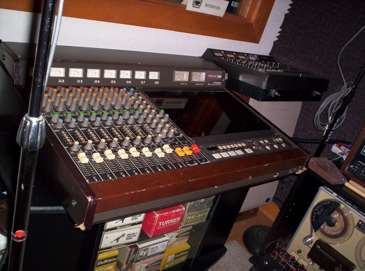 Studio with Tascam 388 in   Phantom Productions vintage reel to reel collection