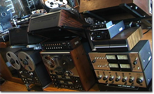 picture of Teac equipment in Phantom's studio