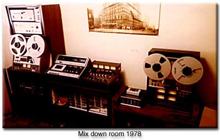 picture of Phantom's 1978 mix-down room