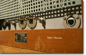 picture of the Brush recorder's back connection panel