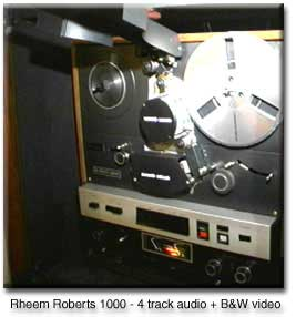 picture of Roberts 1000 reel to reel with black and white video capability