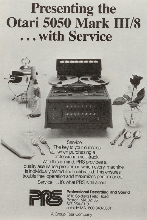 Otari MX 5050 Mark III 8 1983 ad in Phantom Productions, Inc.'s vintage reel to reel tape recorder collection
