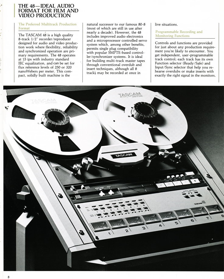 1986 ad for the Teac Tascam Series 40 professional reel to reel tape recorder in Reel2ReelTexas.com's vintage recording collection