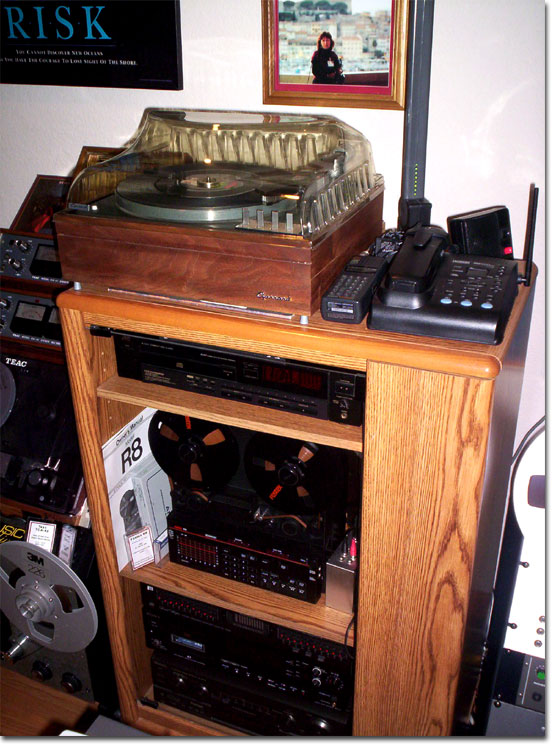 picture of Garrard Lab 80 and Fostex R8 in Phantom's collection