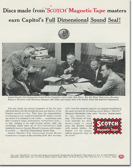 picture of Scotch ad from 1956 Tape Recording magazine