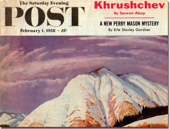 February 1958 Saturday Evening Post cover