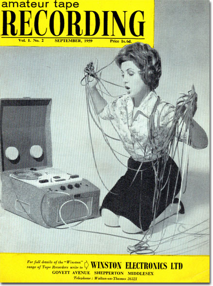 picture of cover of 1959 UK tape Recording magazine