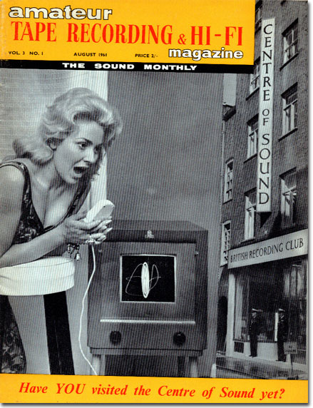 picture of 1961 UK Tape Recording magazine cover