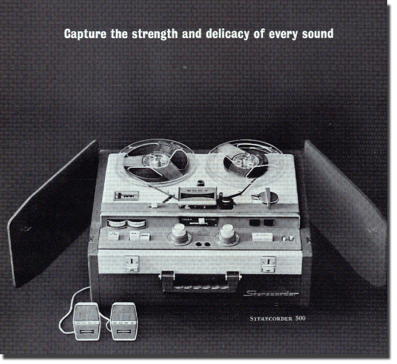 Sony Sterecorder 300 in 1961 Sony catalog in   Phantom Productions vintage reel tape recorder collection