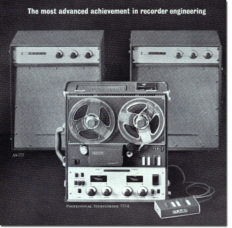 Sony Sterecorder 777 in 1961 Sony catalog in   Phantom Productions vintage reel tape recorder collection