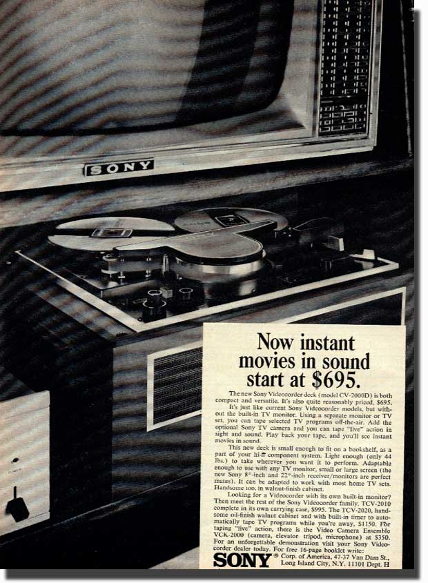 1961967 Sony Video recorder ad