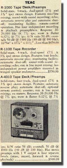 1967 Teac tape recorder ad