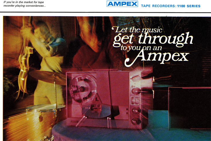 1967 Ampex brochure describing the Ampex 1100 series tape recorder in Reel2ReelTexas.com vintage reel to reel tape recorder collection
