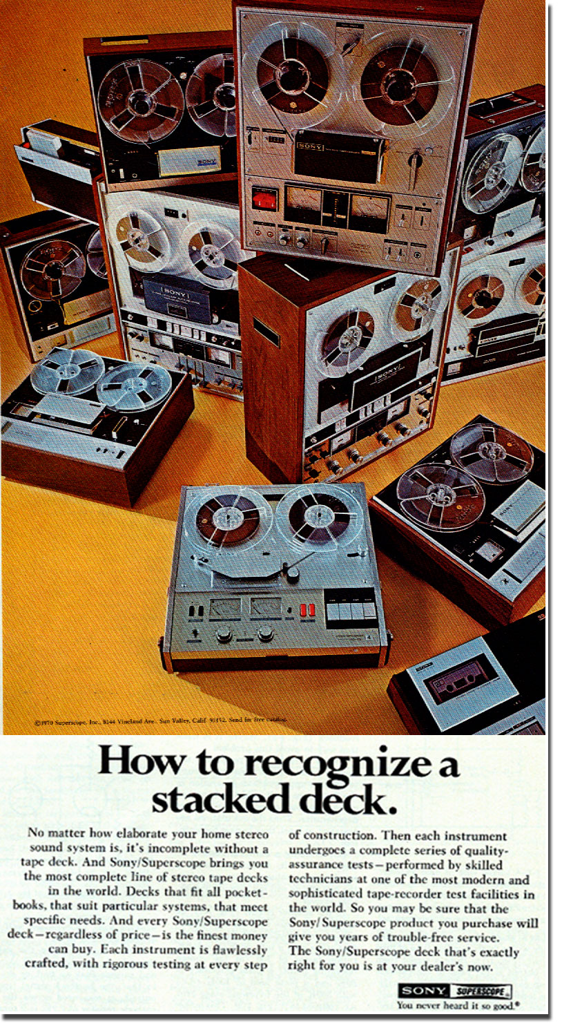 picture of Sony recorder ad