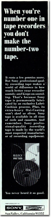 picture of Sony tape ad