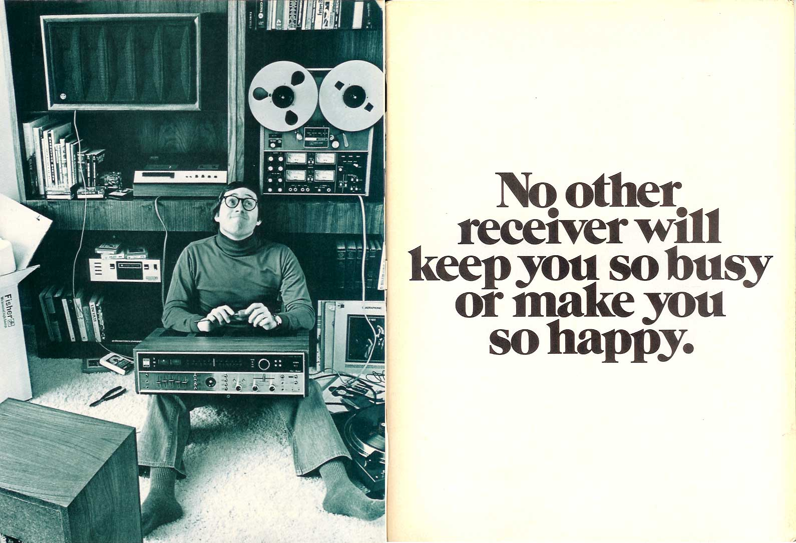 1974 Fisher ad that includes Teac A-3340 reel to reel tape recorder ad in Phantom Productions vintage recording collection