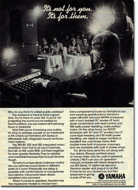 picture of Yamaha Mixer ad