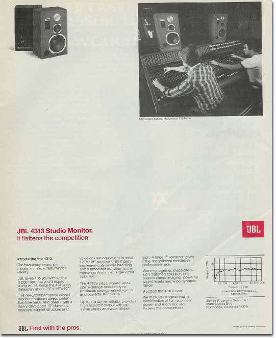 picture of JBL ad from 1980