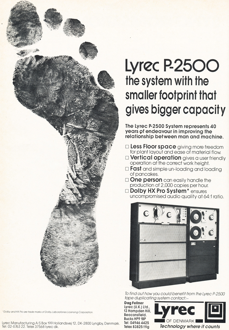 1986 ad for the Lyrec P-2500 tape recorder in Reel2ReelTexas' vintage recording collection