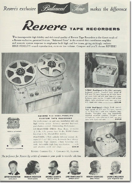 Revere recorder ad from 1957