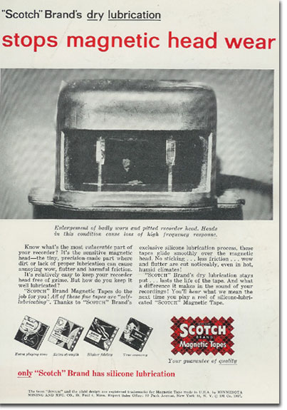 picture of Scotch Recording tape ad from 1957