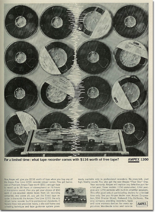 picture of 1963 Ampex recording tape ad