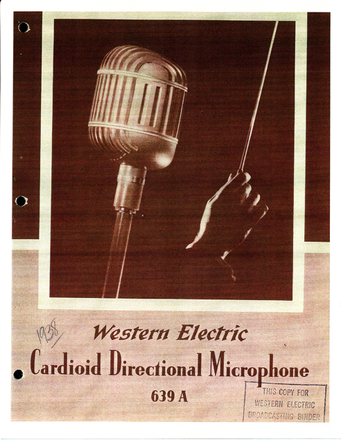 1938 Western Electric microphone ad in Reel2ReelTexas.com's vintage recording collection