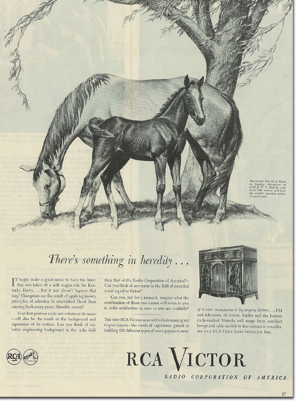 picture of 1945 RCA ad from Life magazine