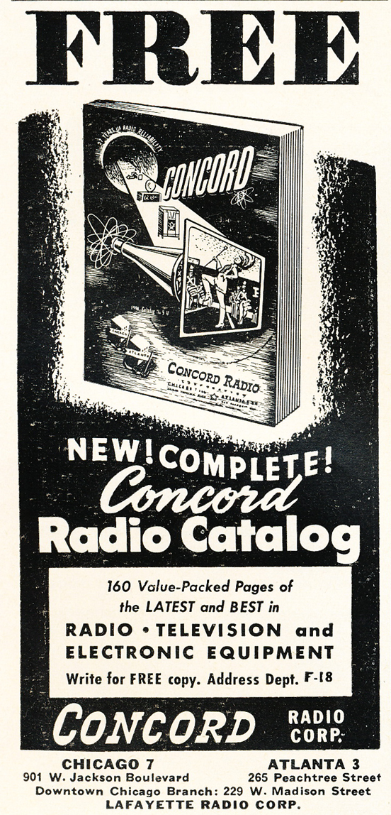 1948 ad for the Concord Radio catalog in Reel2ReelTexas.com's vintage recording collection