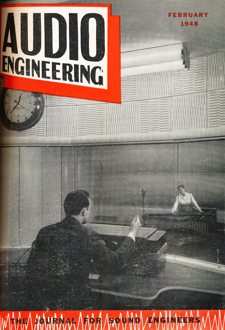 February 1948 Audio Engineering magazine cover in Reel2ReelTexas.com's vintage recording collection