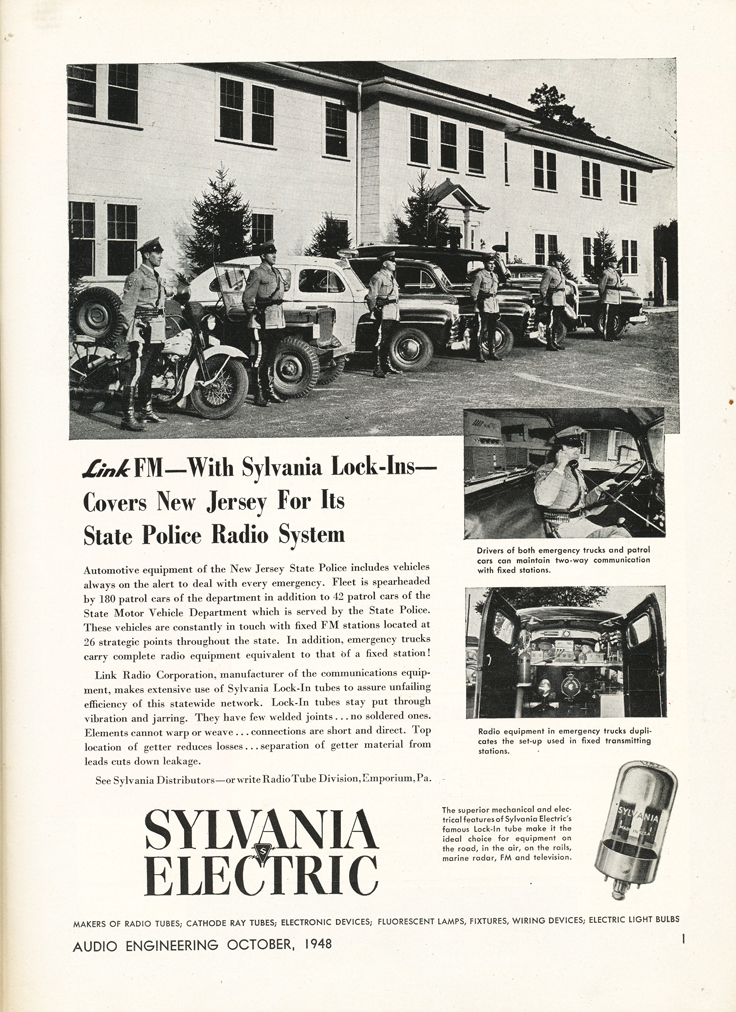 1948 Sylvania ad in Reel2ReelTexas.com's vintage recording collection