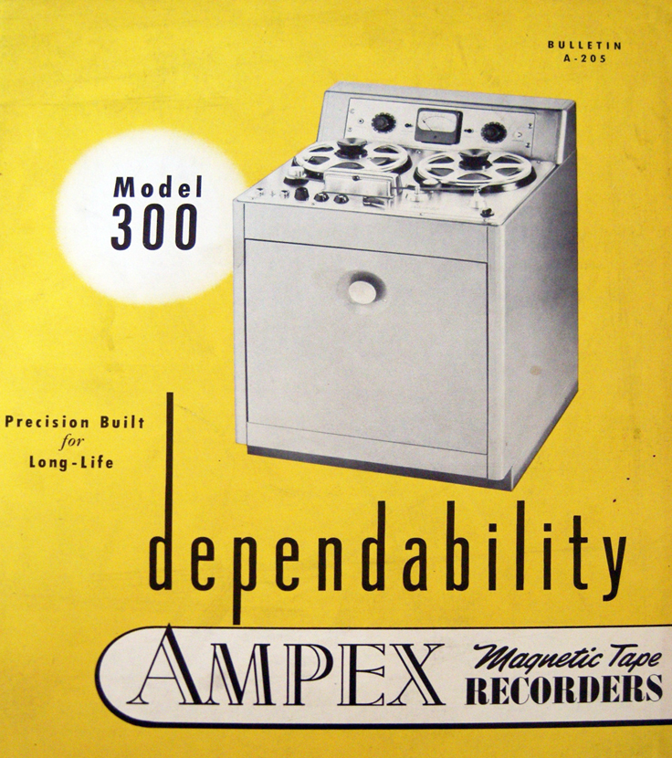 1949 Ampex 300 professional reel to reel tape recorder brochure in   Reel2ReelTexas.com's vintage recording collection