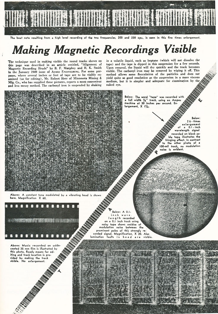 Making Magnetic Recordings Visible