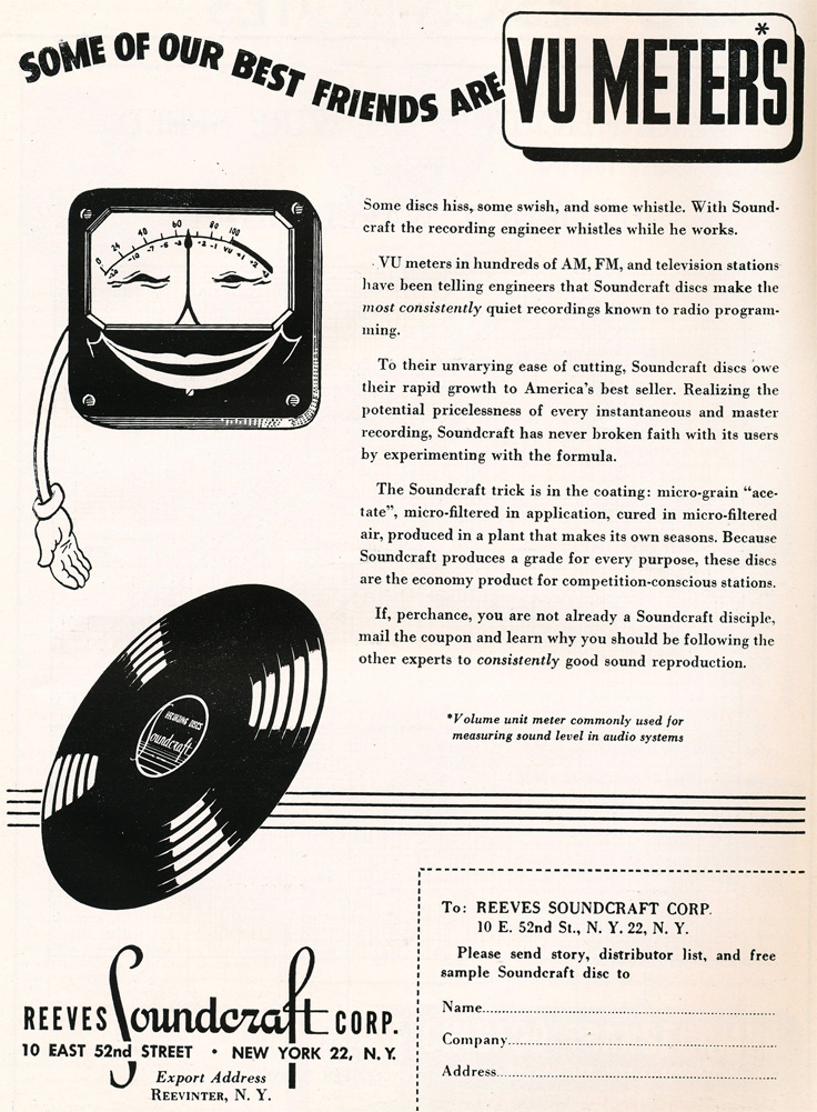 1949 Reeves Soundcraft ad in Reel2ReelTexas.com's vintage recording collection
