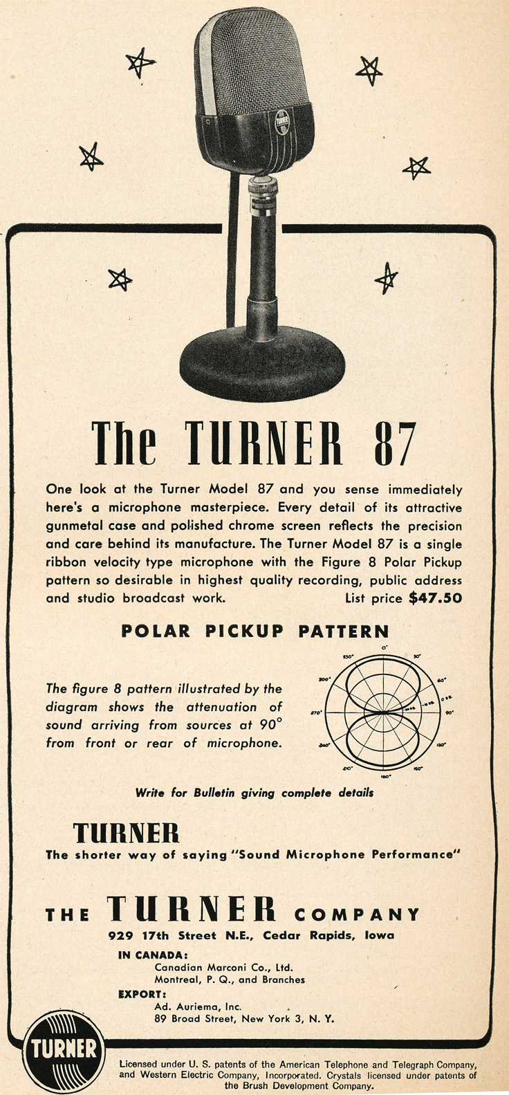 949 Turner 87 microphones in Reel2ReelTexas.com's vintage recording collection
