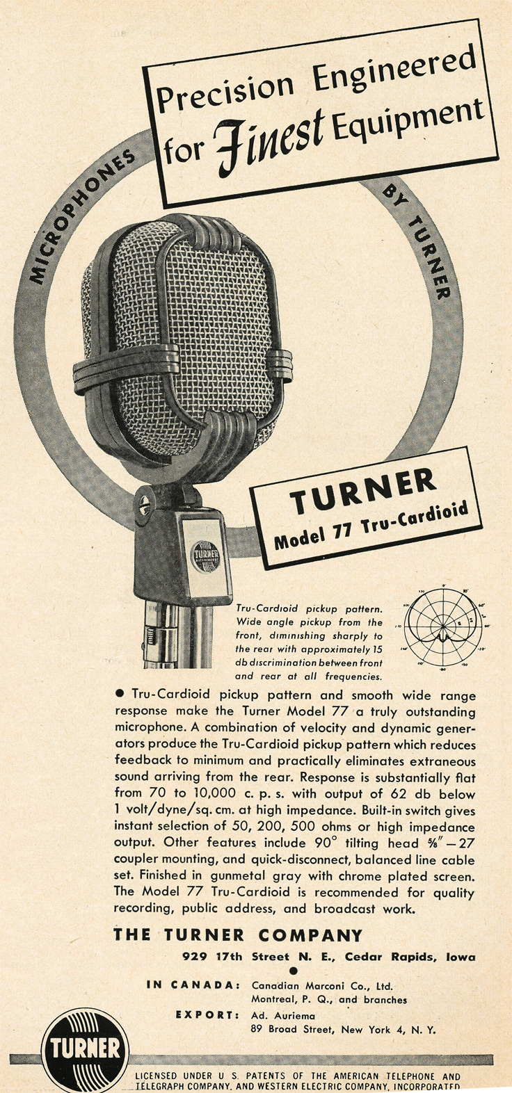 949 Turner 77 microphones in Reel2ReelTexas.com's vintage recording collection
