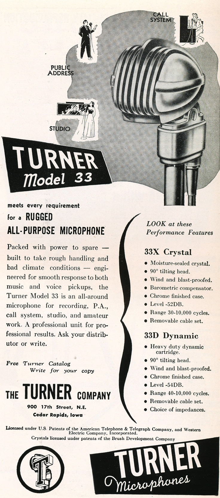 949 Turner 33 microphones in Reel2ReelTexas.com's vintage recording collection