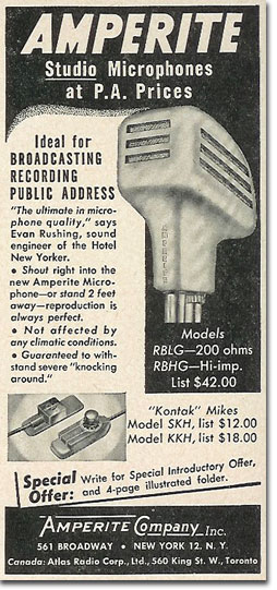 picture of 1950 Amperite ad