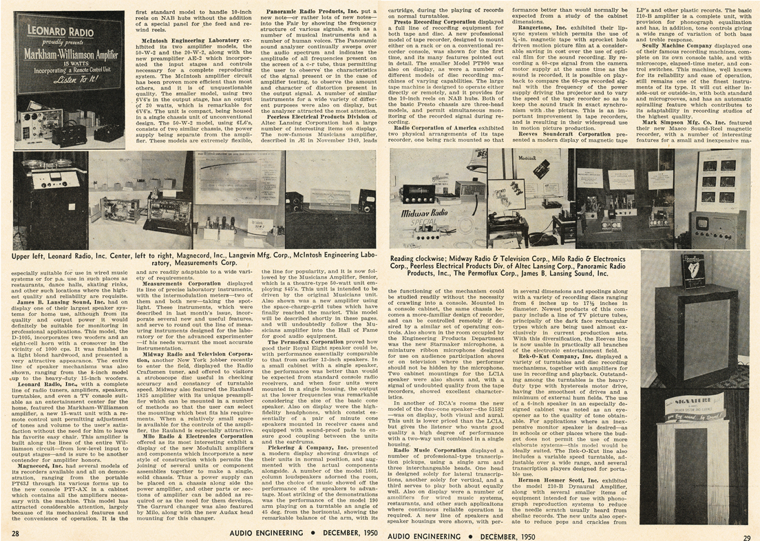 1950 Audio Fair article