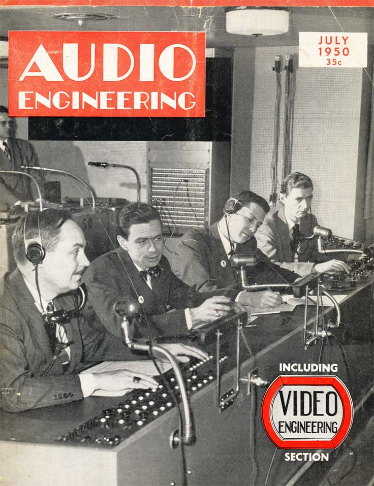 April 1950 cover of the Audio Engineering magazine in Reel2ReelTexas.com's vintage recording collection