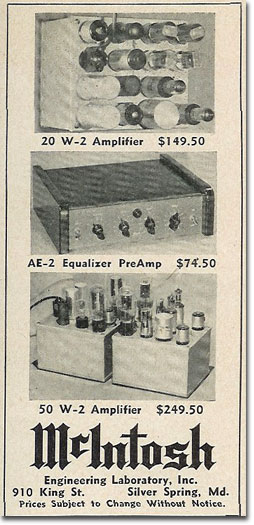 picture of 1950 McIntosh ad