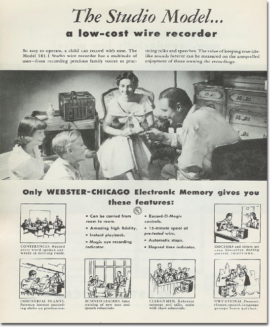 picture of 1950 Webster Chicago 181 literature