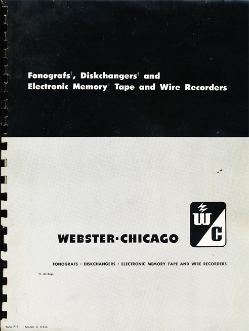 1950 Webster Chicago Price List in Reel2ReelTexas.com's vintage recording collection