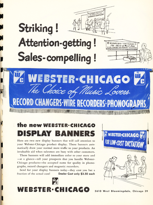 1950 Webster Chicago Dealer promo  in Reel2ReelTexas.com's vintage recording collection