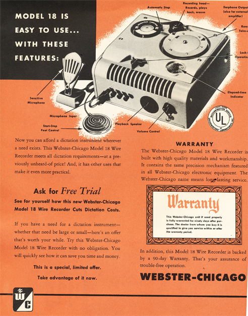 1950 Webster Chicago Model 18  in Reel2ReelTexas.com's vintage recording collection