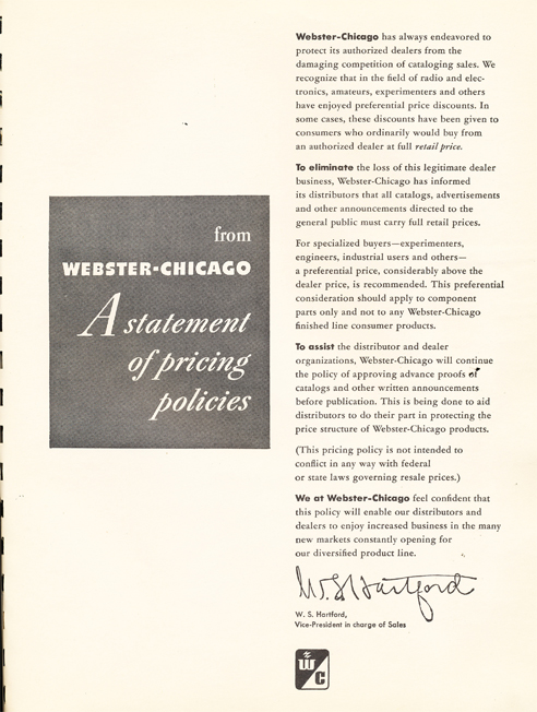 1950 Webster Chicago ad  in Reel2ReelTexas.com's vintage recording collection