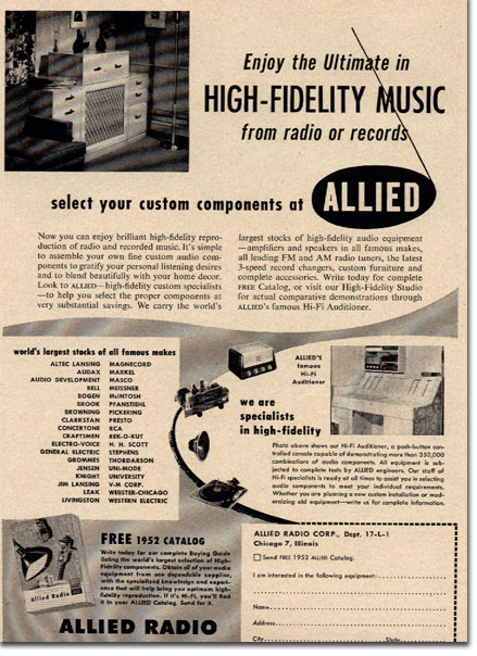 picture of Allied radio catalog ad
