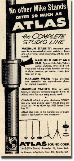 picture of Atlas microphone stand ad