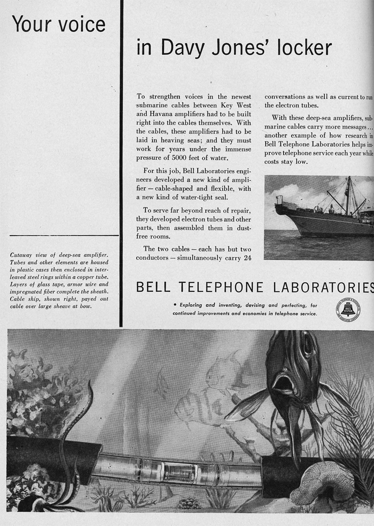 1951 ad for the Bell Labs in Reel2ReelTexas.com's vintage recording collection
